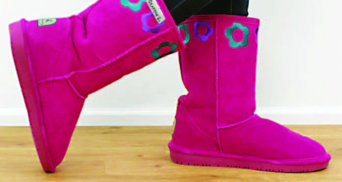 Fitting Kids Winter Boots - Walk around store test